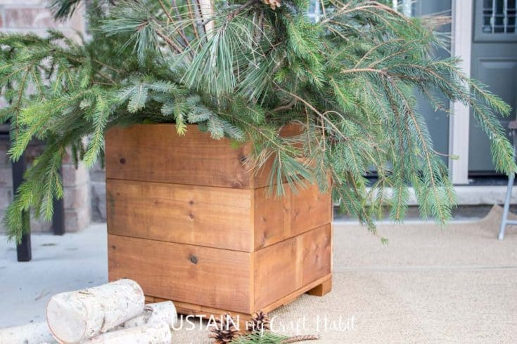 Wooden DIY Planter Box