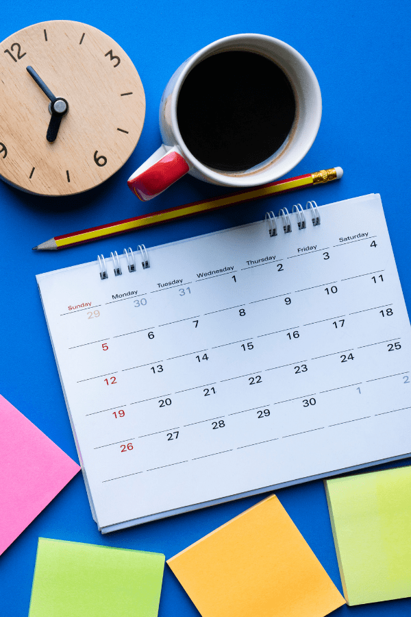 Back to school tips - family calendar