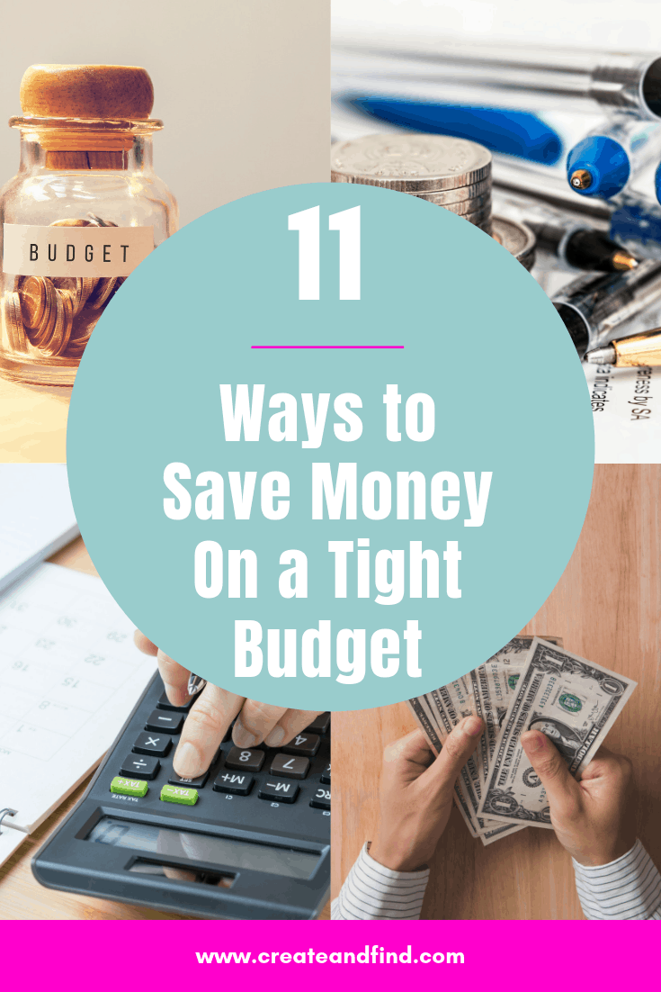 11 ways to save money on a tight budget