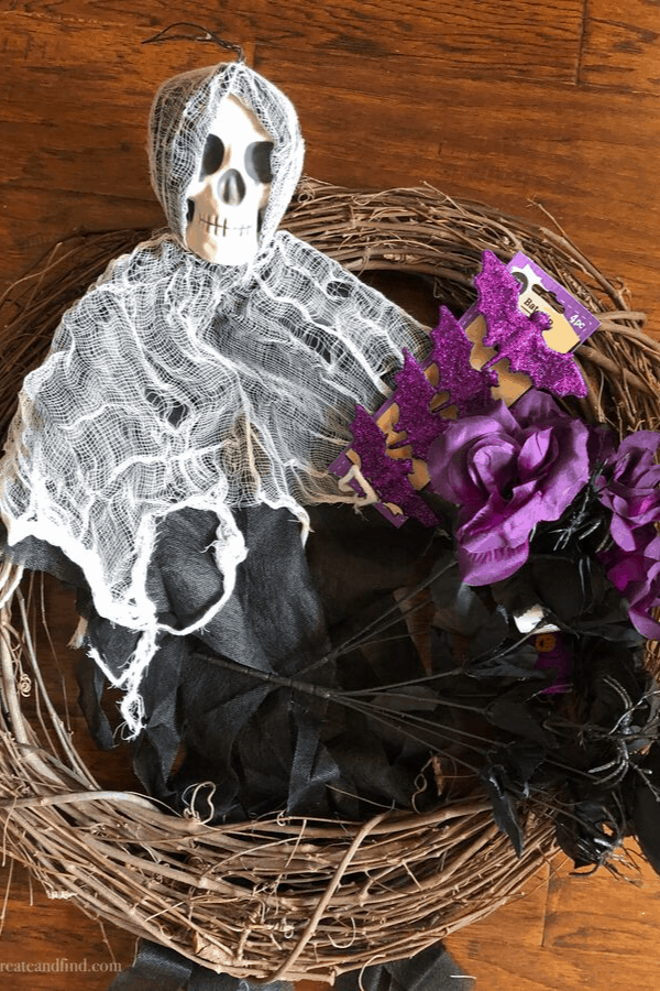 DIY Skull Wreath Supplies
