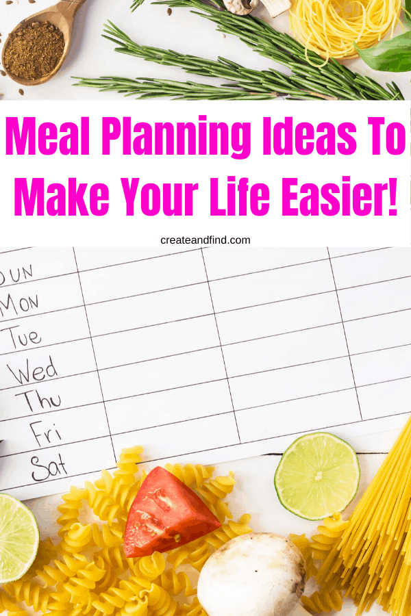 meal planning templates and ideas