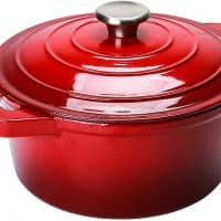 Puricon 5.5 Quart Enameled Cast Iron Dutch Oven