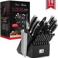 19-Piece Premium Kitchen Knife Set With Wooden Block