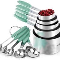 Measuring Cups: U-Taste 18/8 Stainless Steel Measuring Cups and Spoons Set of 10 Piece