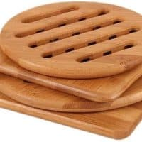 Bamboo Trivet,  Heat Resistant Pads (Multi-size, Pack of 4)