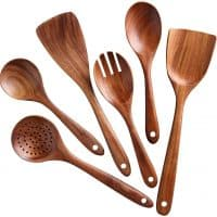 Kitchen Utensils Set, Wooden Cooking Utensil Set Non-stick