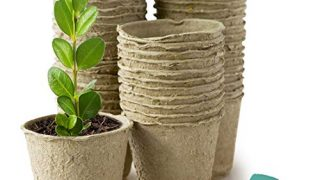 GROWNEER 120 Packs 3 Inch Peat Pots Plant Starters for Seedling, Biodegradable Herb Seed Starter Pots Kit