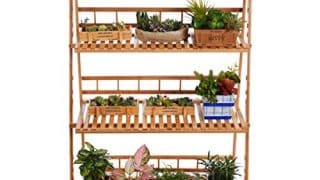 Plant Flower Stand Plant Display Shelf Rack Shelf Bamboo Foldable