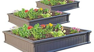 Lifetime 60069 Raised Garden Bed Kit, 4 by 4 Feet, Pack of 3