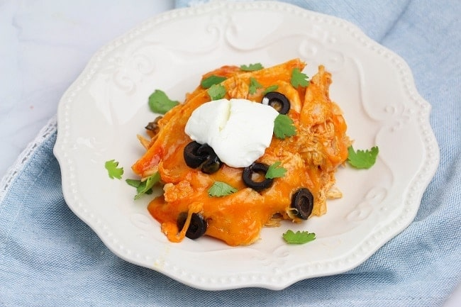 Instant Pot Chicken Enchilada Casserole
