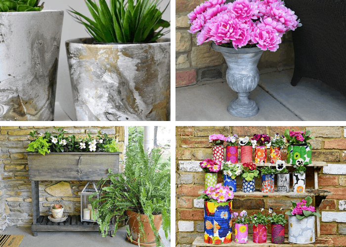 19 Ways to Make Your Own Planters