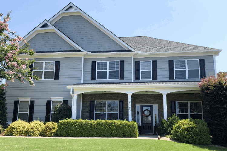 Exterior House Color – Sherwin Williams Ellie Gray