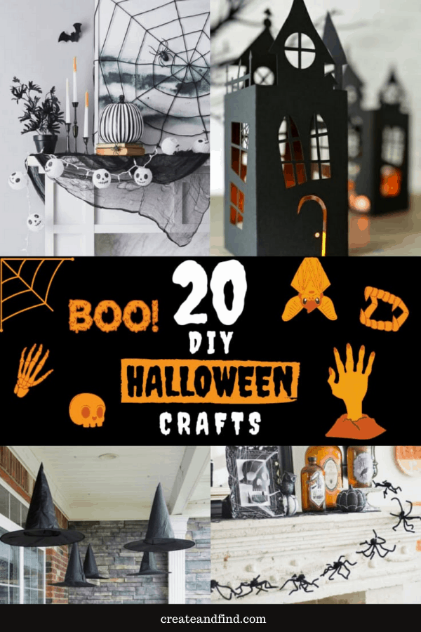 20 DIY Halloween Decoration Ideas and Crafts