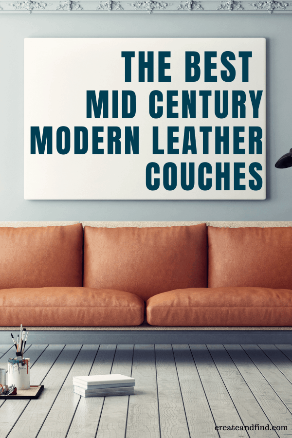the best mid century modern leather couches
