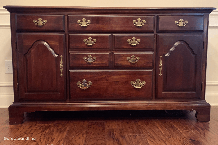 traditional sideboard makeover -  before picture