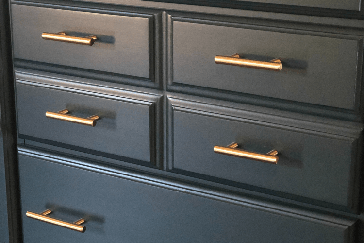 traditional sideboard makeover new hardware