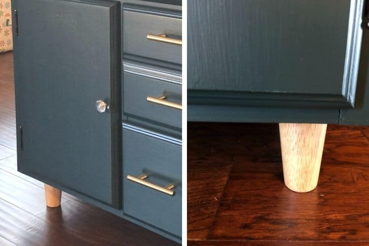 sideboard makeover - new legs
