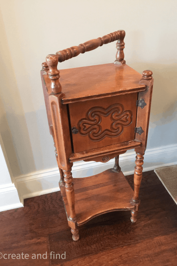 cigar table makeover before pic