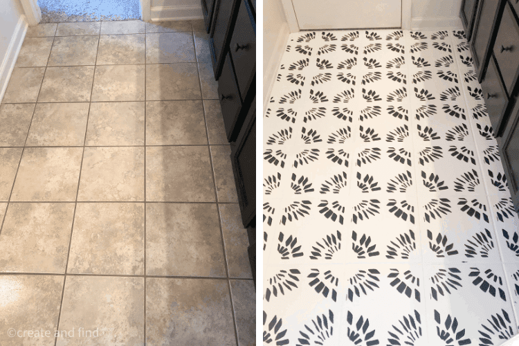 how to paint bathroom tile floors