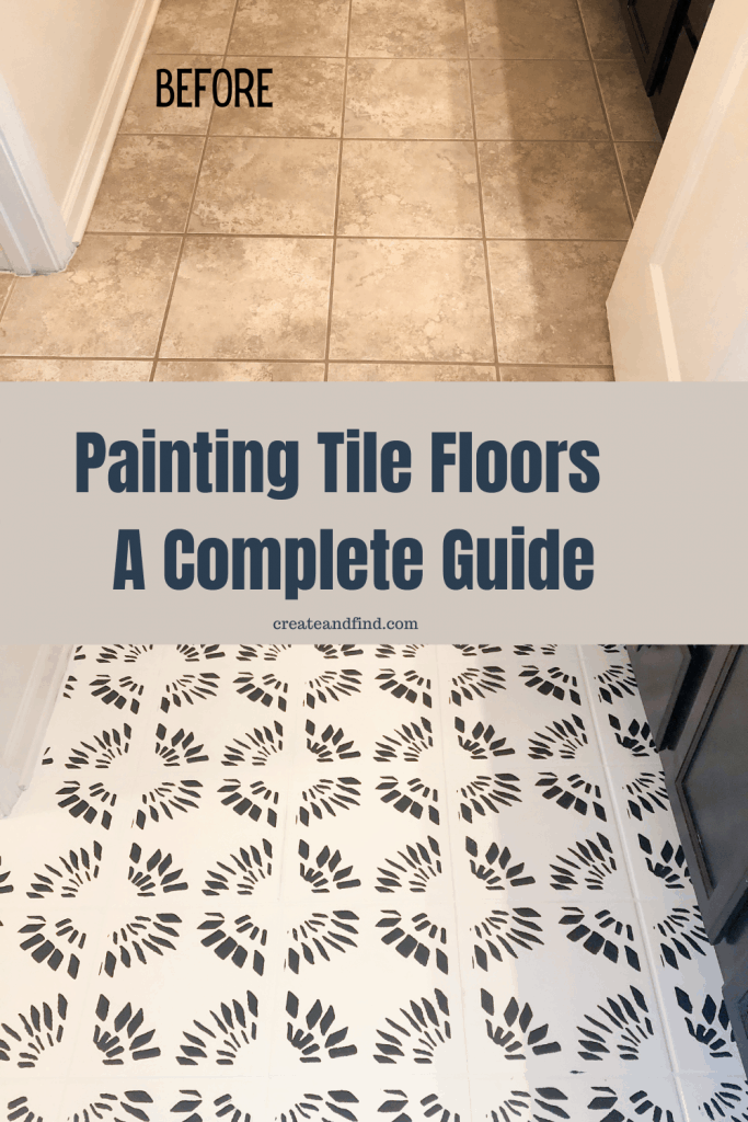 how to paint bathroom tile floors pin