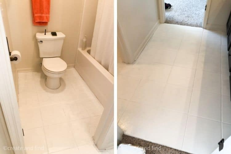 how to bathroom tile floors - base coat